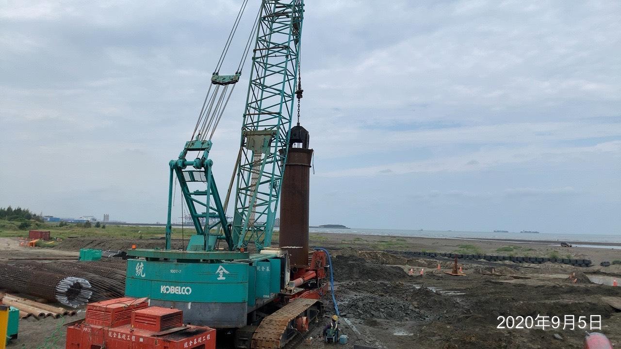 八里端基樁工程鑽掘施工.