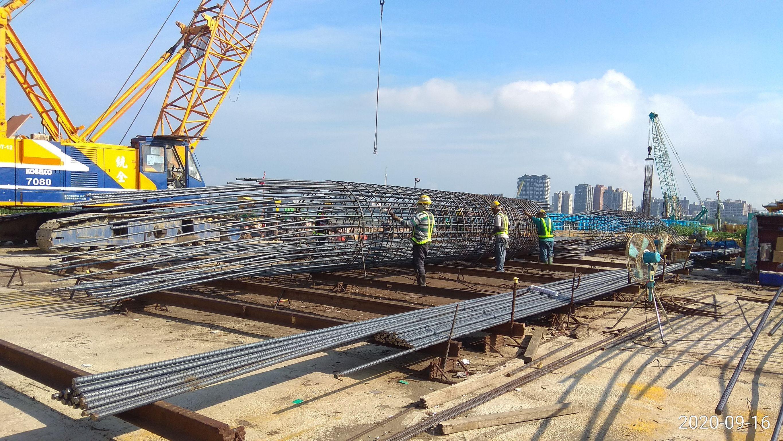 八里端基樁鋼筋籠製作加工