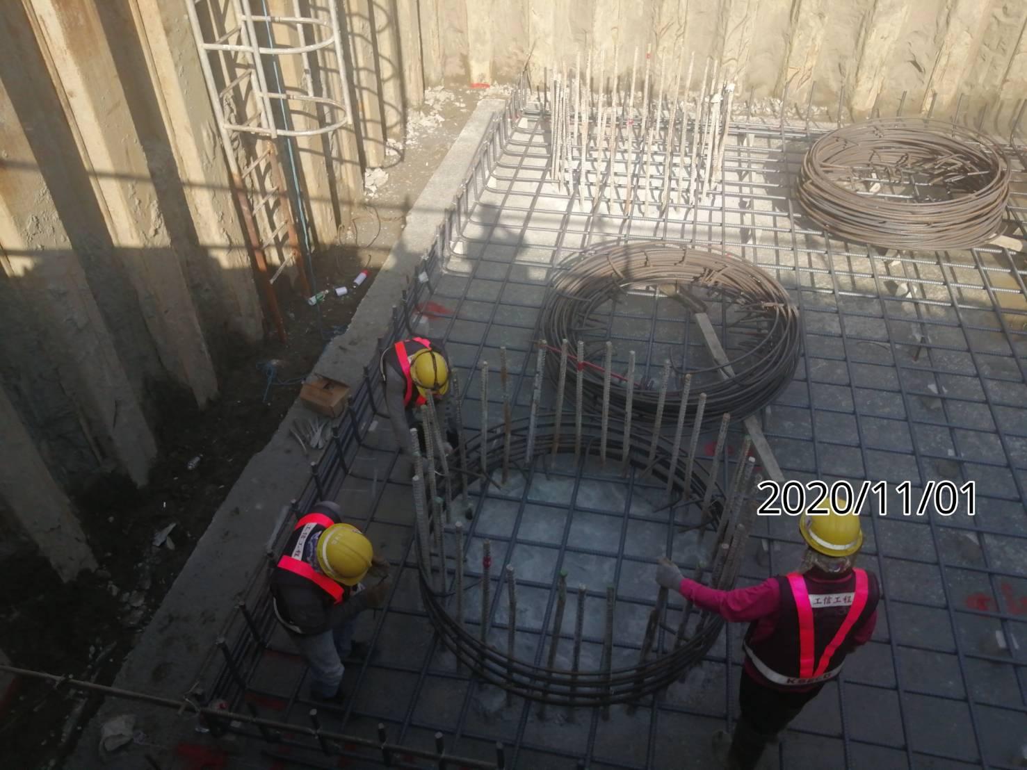 八里端橋墩墩柱鋼筋綁紮