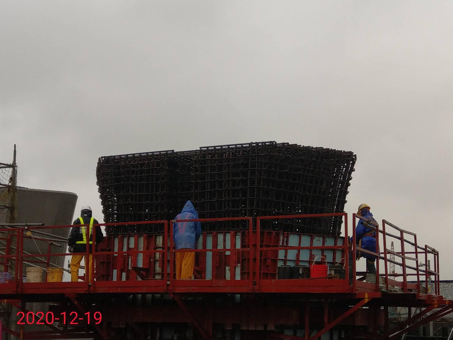 橋墩墩柱鋼筋組立.