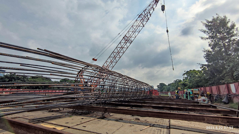 全套管基樁鋼筋籠加工組立製作.