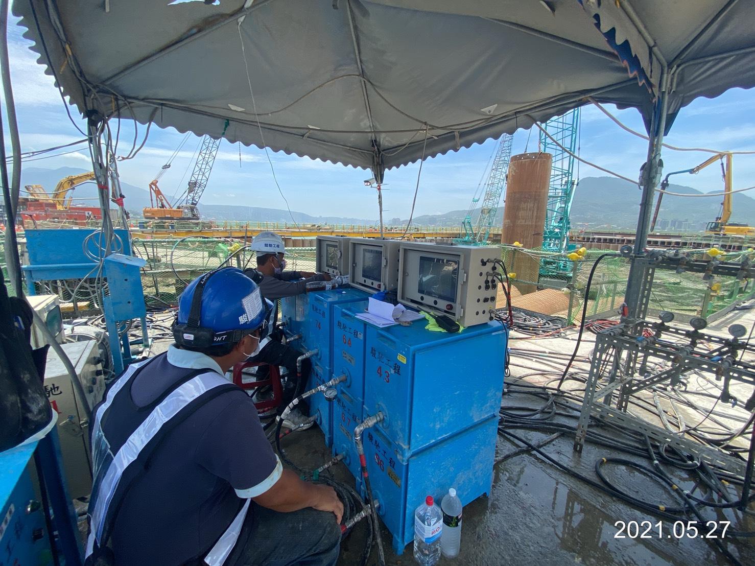 雙環塞低壓灌漿之量測儀電設備.