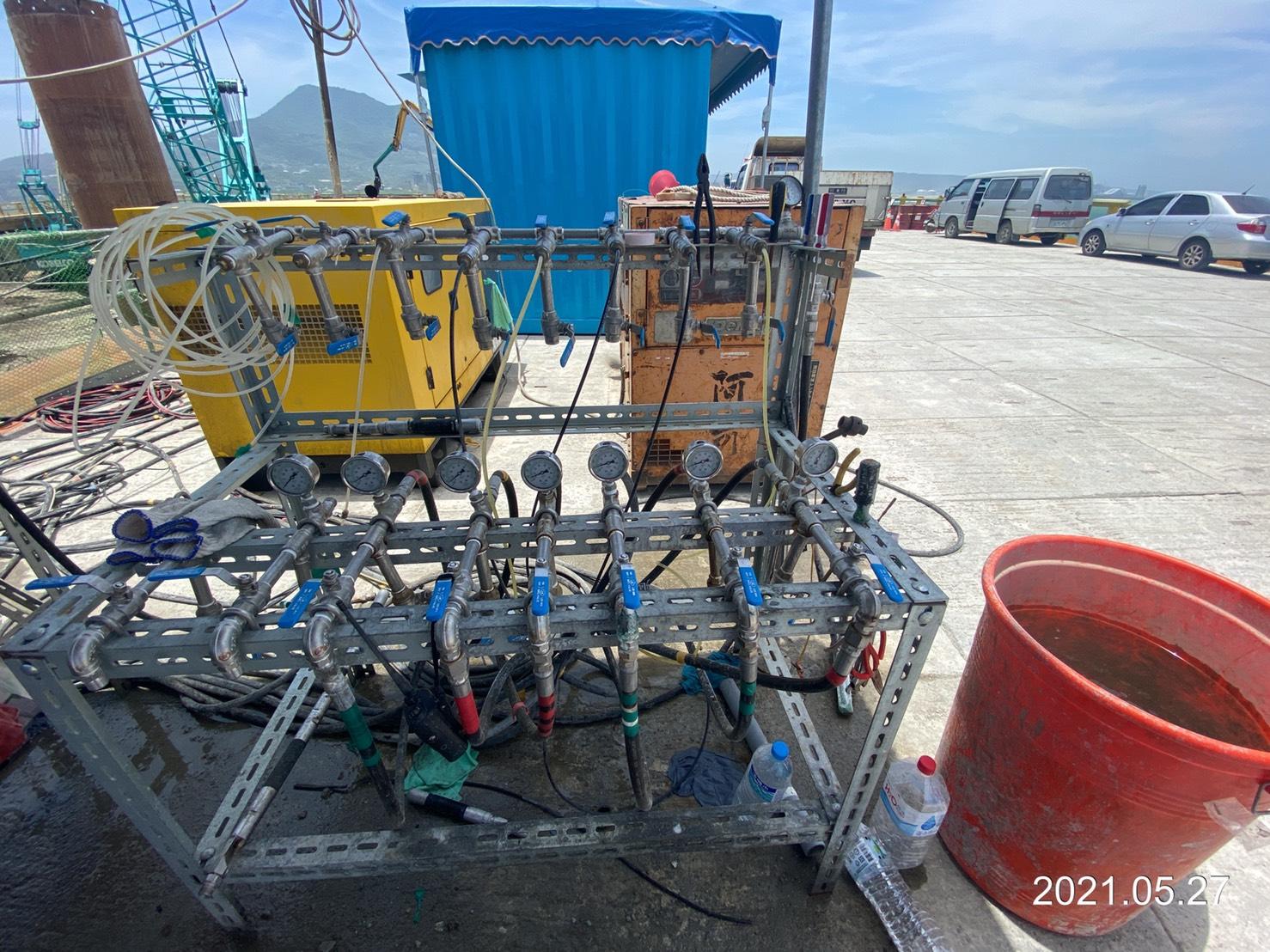 雙環塞低壓灌漿之管路設備.
