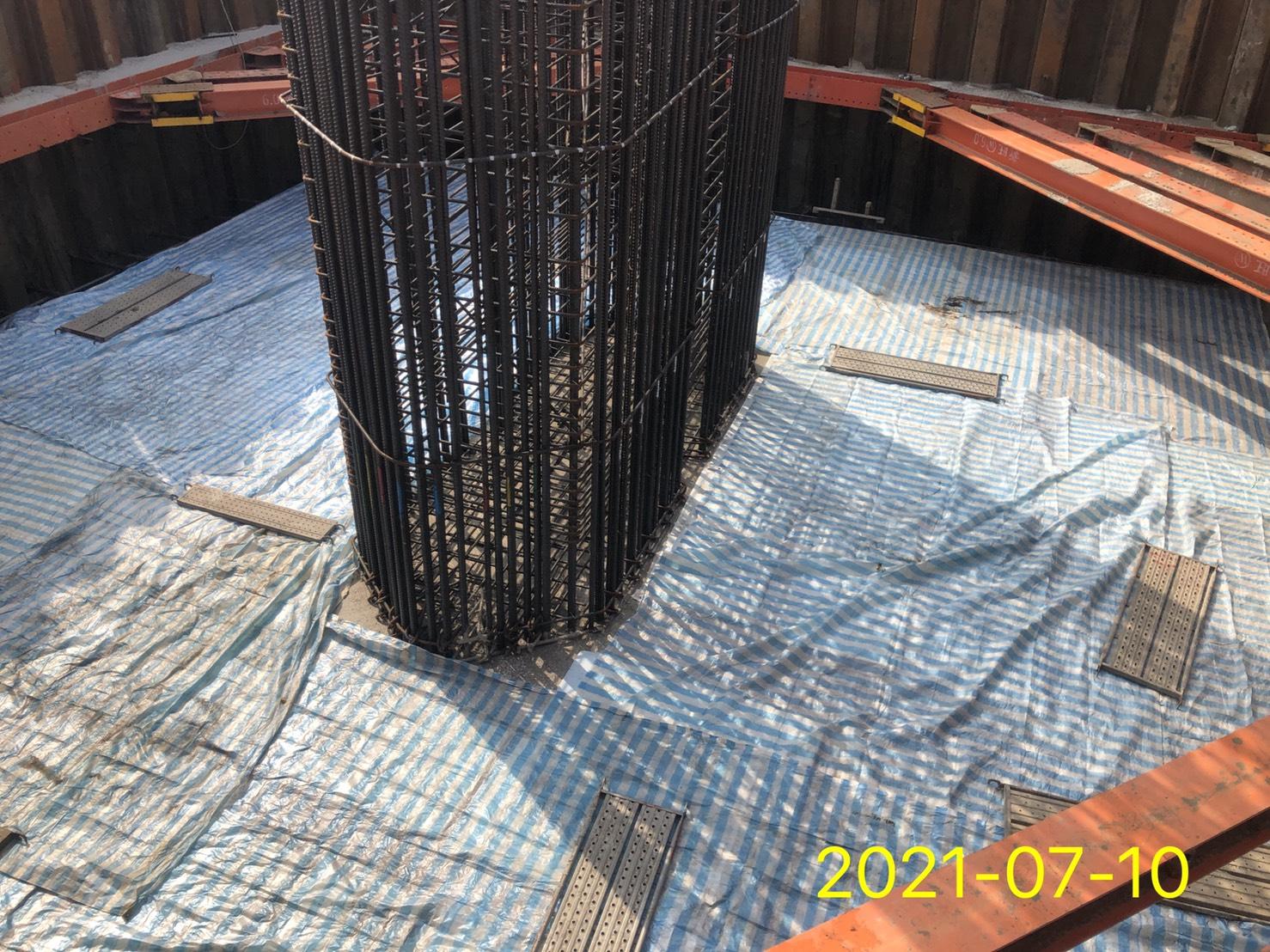 保溫材鋪設完成面.