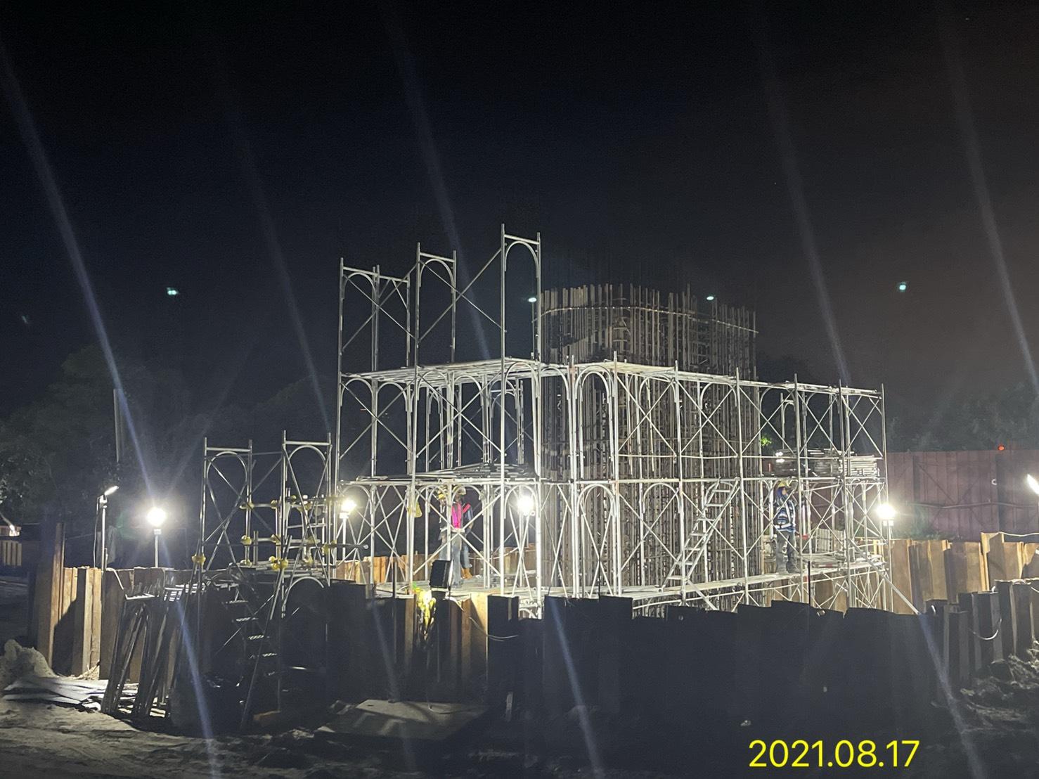 橋墩墩柱鋼筋組立施工.