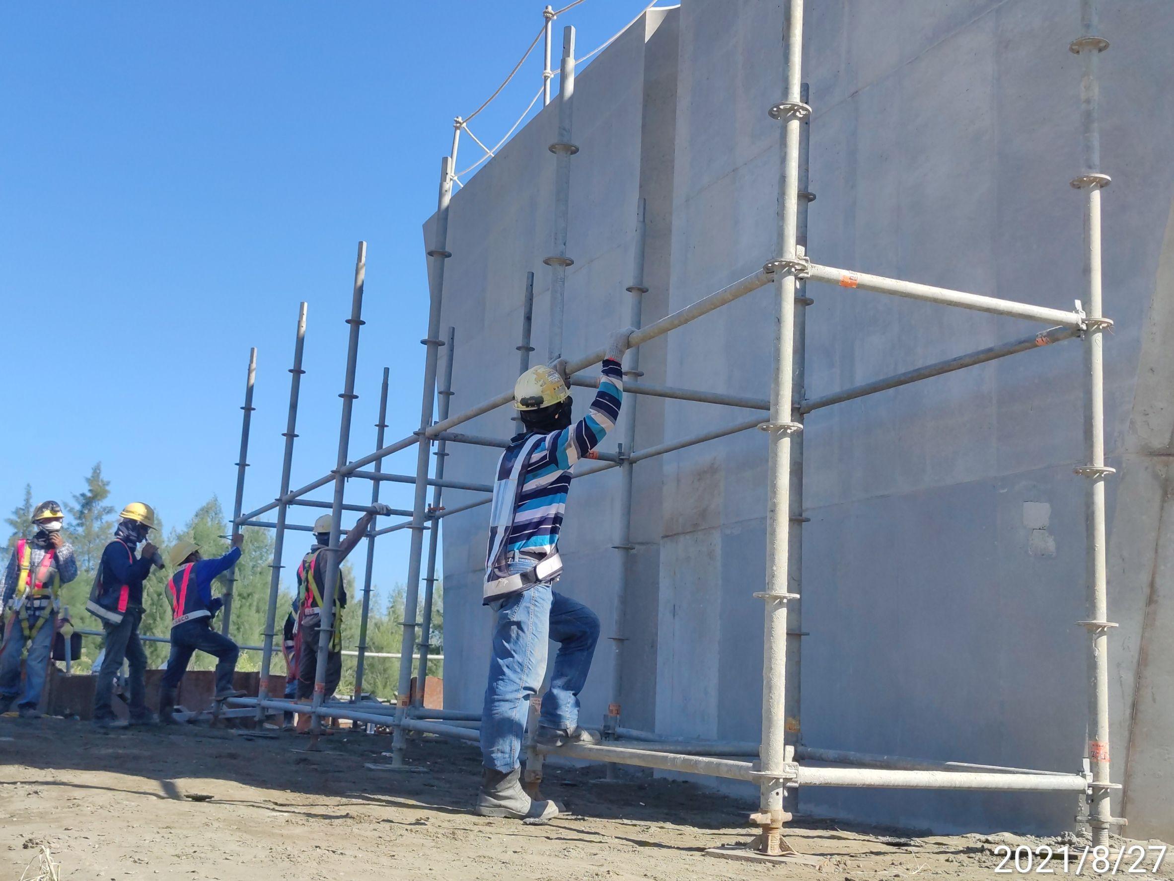 墩柱施工架搭設施工.