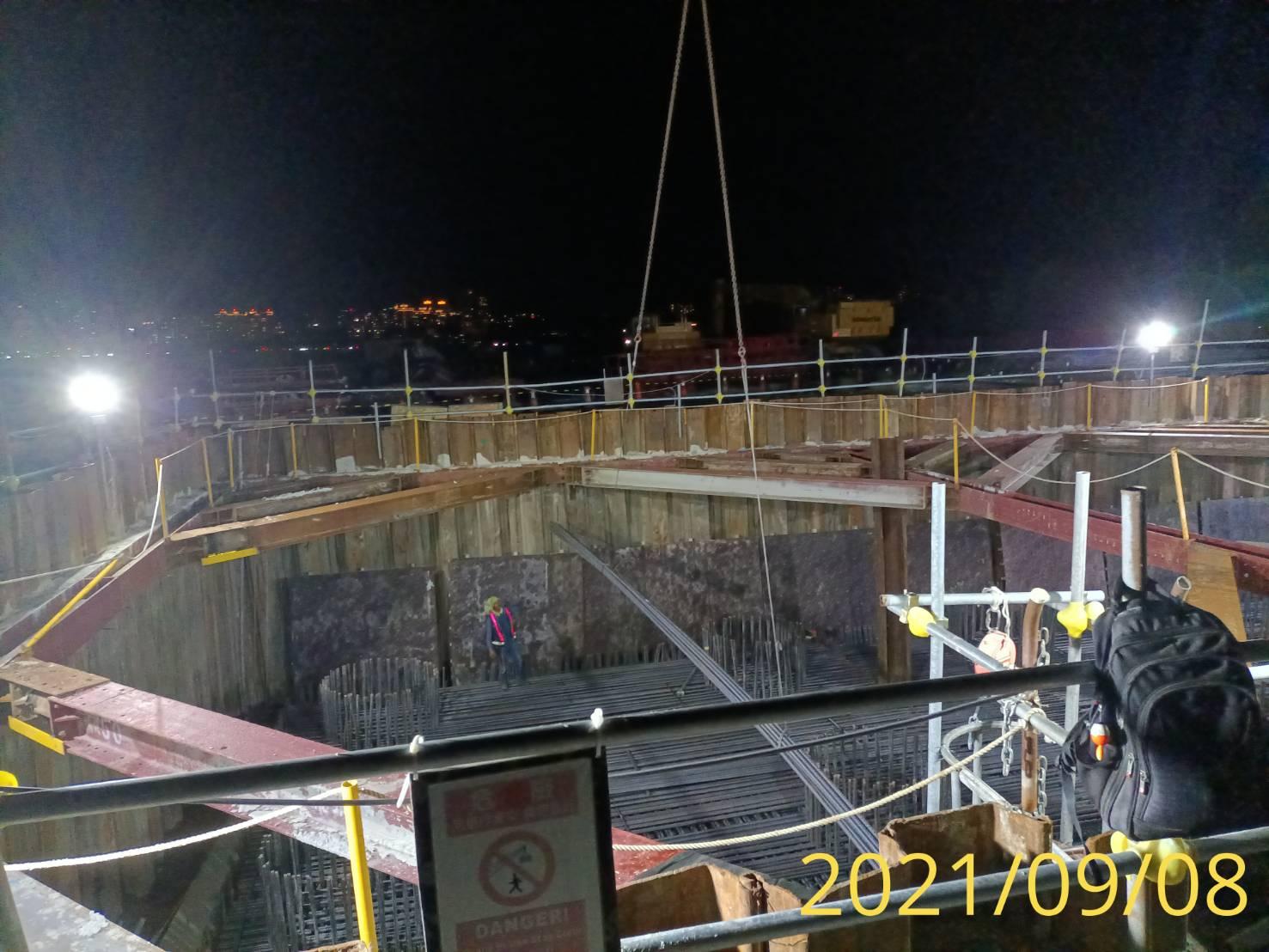 橋墩樁帽鋼筋施工.